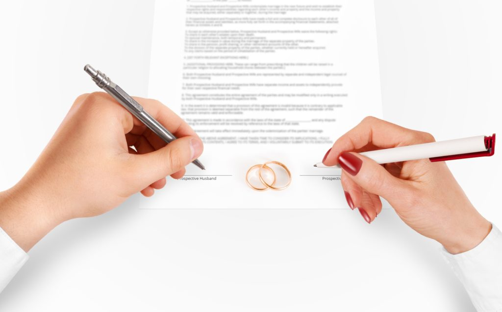 pre-nuptial or postnuptial agreements